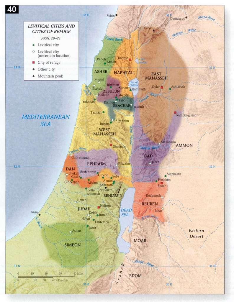 Mais Dois Mapas Com A Distribui 231 227 O Das 12 Tribos De Israel